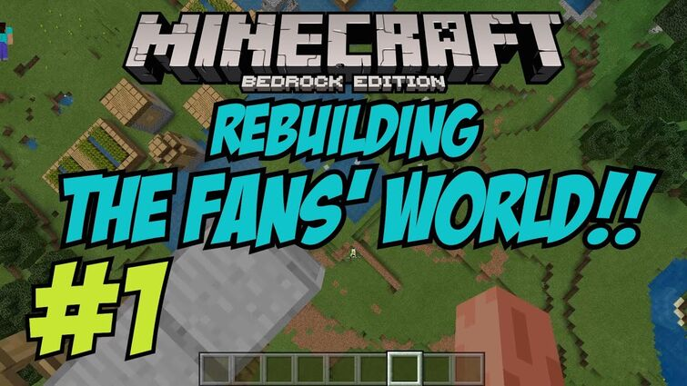 REBUILDING!   Ethan Gamer Fans' Minecraft World - Part 1