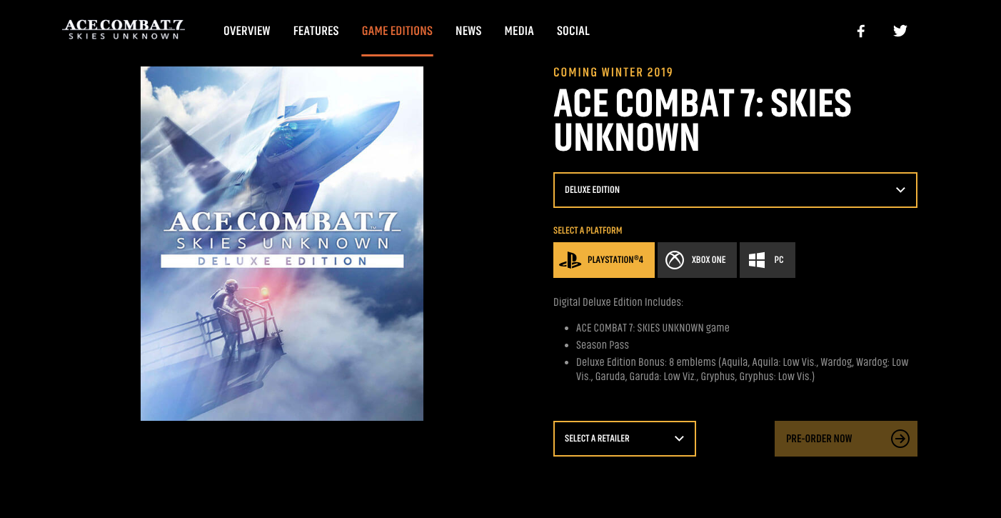 Ace Combat 7 delayed another YEAR?