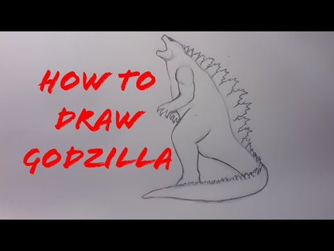 How To Draw Godzilla King of the monsters part 1