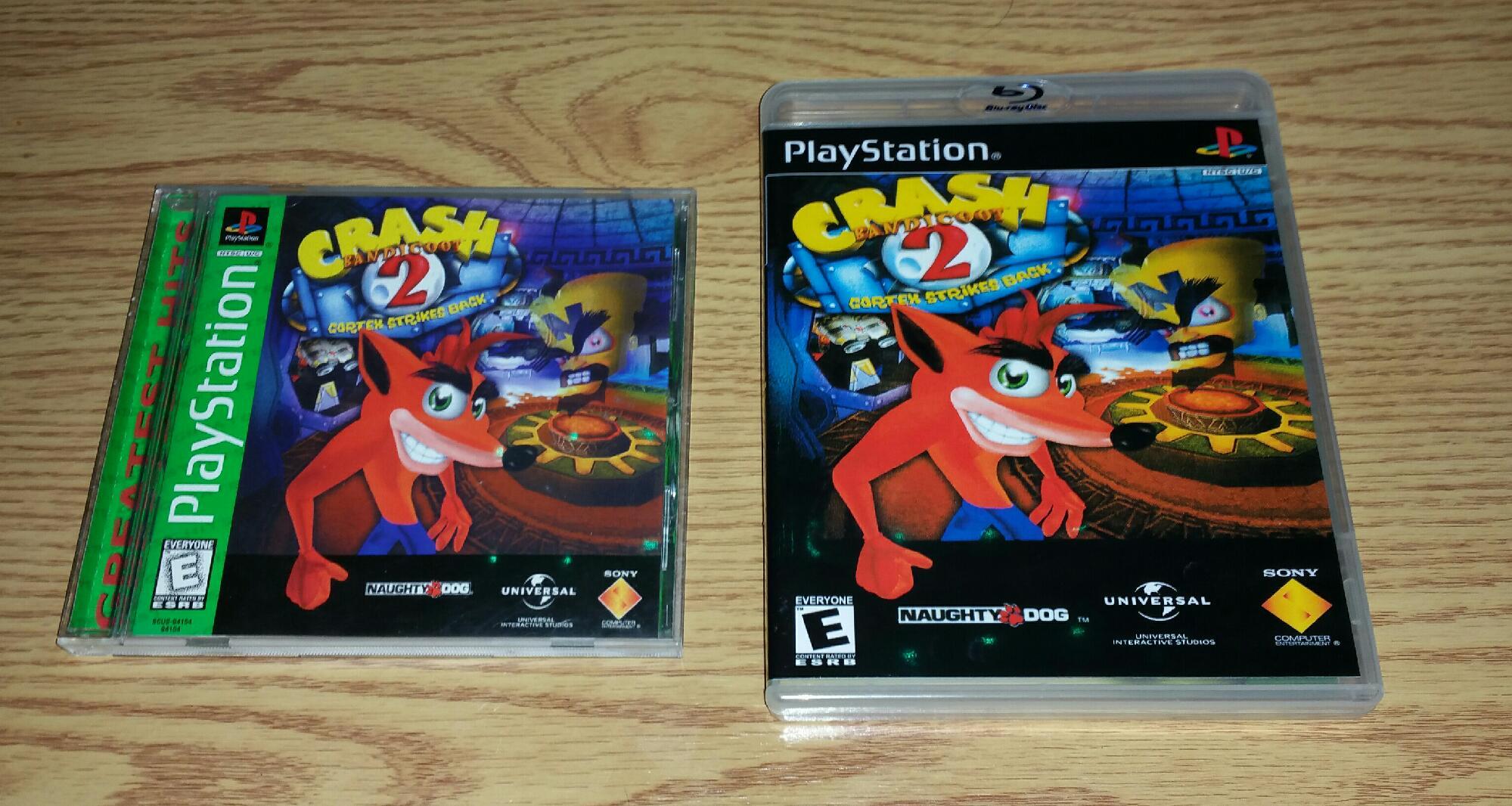 Upgraded PS1 Crash Bandicoot cases 😎