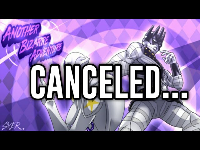 Another Bizarre Adventure is over.. (Roblox)