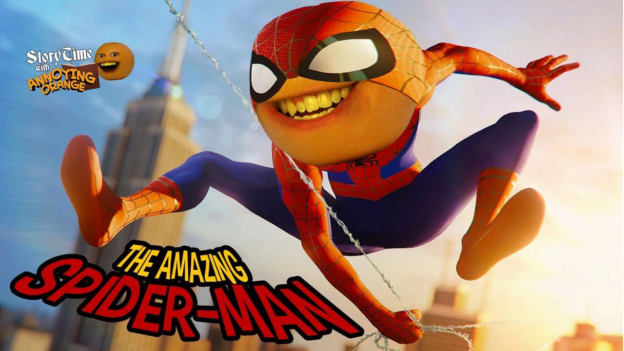 Annoying Orange - Storytime: The Amazing Spider-Man!