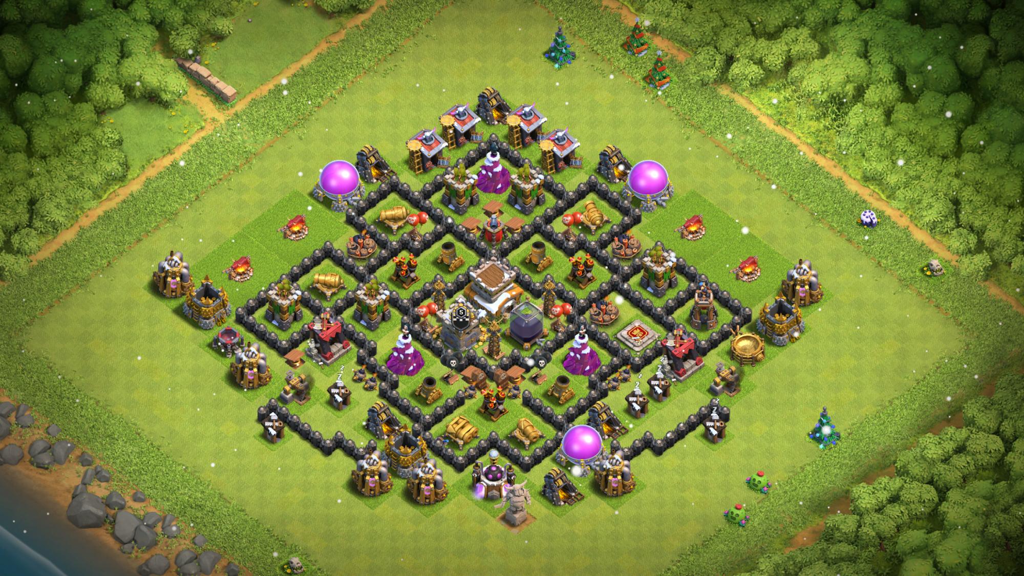 My dark elixir base.