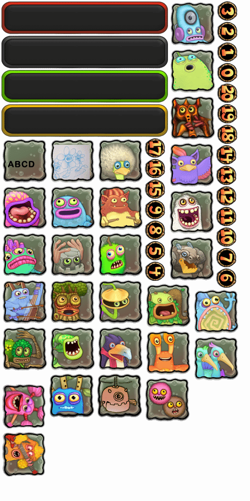 "I was able to find a really early image showing off all of the ""available"" monsters during v1.0"