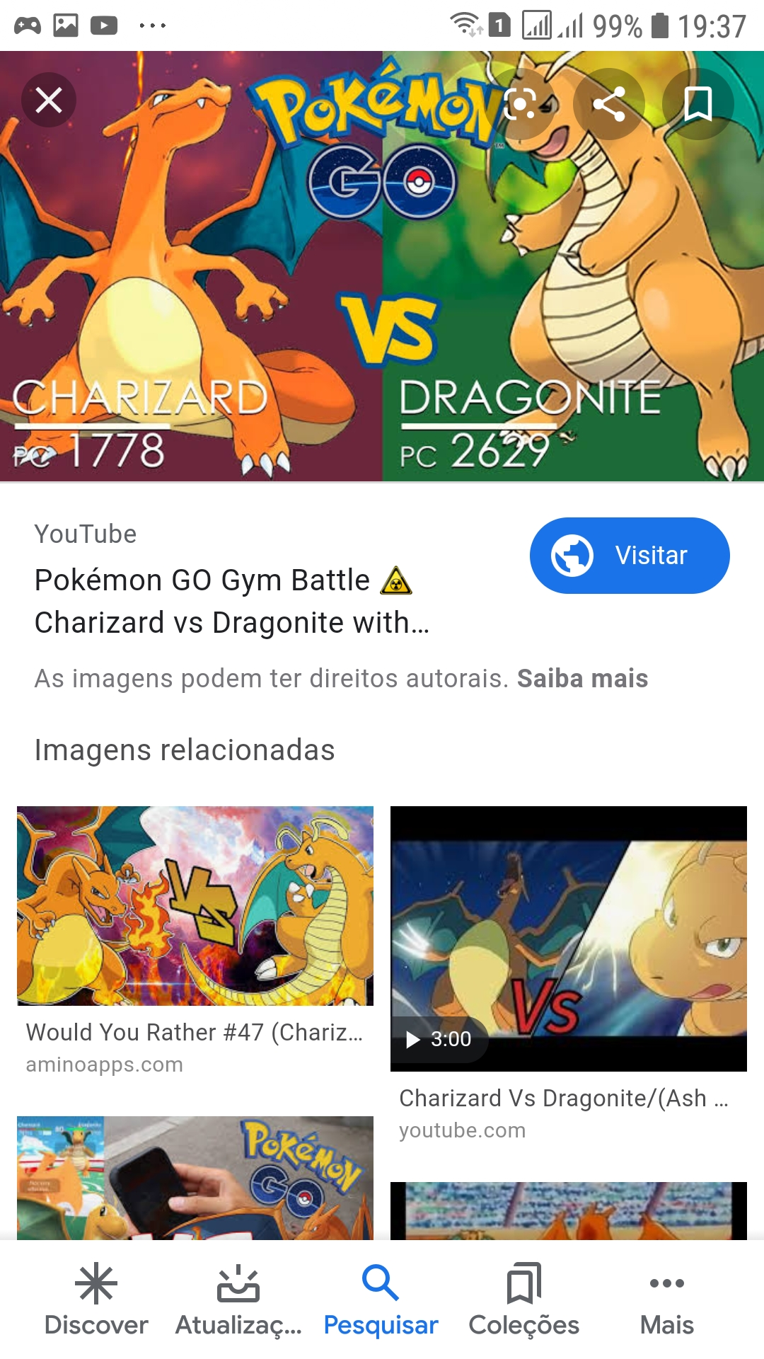 Quem ganha Charizard ou Dragonite