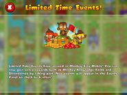 Limited Time Events Mobile