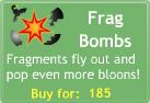 BTD3 Frag Bombs upgrade button