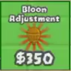 Bloon adjustment