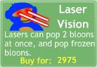 BTD3 Laser Vision Upgrade Button