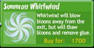 Summon whirlwind upgrade buttonBTD4