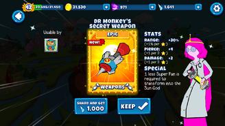 Doctor Monkey's Secret Weapon