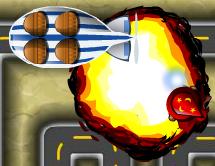 A Fireball exploding.