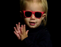Pink Sunglasses from Baby Bach (1998-2010).