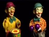 Tin Wind-Up Clown with Maracas