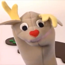 Joyce Reindeer Puppet with Red Nose from Baby Santa's Music Box (2000-2003), Baby Da Vinci (2004-present), Baby Noah (2004-2009), Baby Wordsworth (2005-2009), On the Go (2005-present), Meet the Orchestra (2006-present), and Baby's First Moves (2006-2009).
