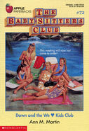 Baby-sitters Club 72 Dawn and the We Love Kids Club original cover