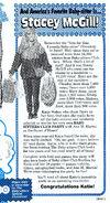 Favorite Baby-sitter Giveaway winner Katie Weber Fan Club Newsletter 50-52 1991
