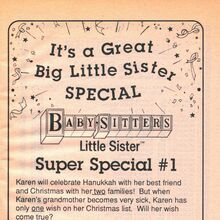 Super Special 1 Karens Wish bookad from BLS 13 1990.jpg