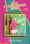 BSC Mystery 33 Stacey and the Stolen Hearts cover