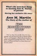 Ann M Martin story of author bookad from 64 orig 1993
