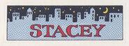 Stacey sticker from 1992 calendar