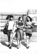 Claudia Carly Fran summer school SS10