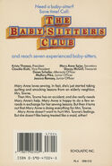 Baby-sitters Club 66 Maid Mary Anne original back cover