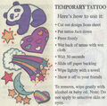 Temporary Tattoo front and back from KidVision 10 VHS