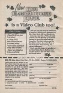 TV series Video Club bookad from SM2 1stpr 1995