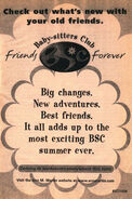 Baby-sitters Club Friends Forever series bookad from 130 1999