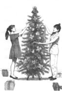 Kristy Claudia decorating tree at wedding SS12