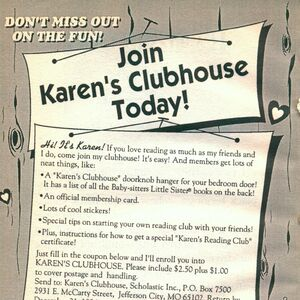 Karens Clubhouse fan club bookad from BLS 52 1994.jpg
