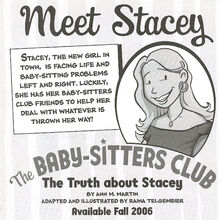 Truth about Stacey B&W Graphic Novel bookad 2006 from GN 1 KGI.jpg