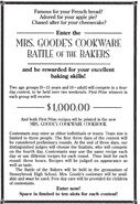 Mrs Goodes Cookware Battle of Bakers ad from M21