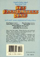 Baby-sitters Club 71 Claudia and the Perfect Boy original back cover