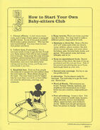 Start Your Own BSC Fan Club supplement 1990