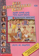 BSC 34 Mary Anne and Too Many Boys 1996 reprint cover