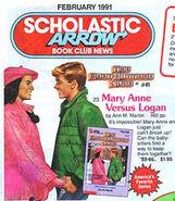 Mary Anne vs Logan Scholastic Arrow book orders Feb 1991
