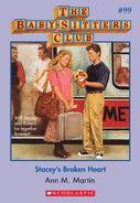 BSC 99 Staceys Broken Heart ebook cover