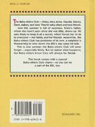 Baby-sitters Club movie novelization hardback back cover