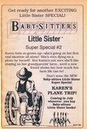 Super Special 2 Karens Plane Trip from BLS 19 1stpr 1991
