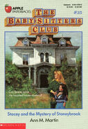 Baby-sitters Club 35 Stacey Mystery of Stoneybrook original cover