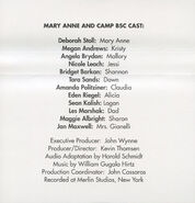 Baby-sitters Club 86 Mary Anne and Camp BSC audio tape J-card back
