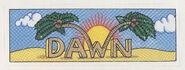 Dawn sticker from 1992 calendar