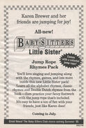 Little Sister Jump Rope Rhymes bookad from BLS 62 1stpr 1995