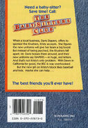 Baby-sitters Club 89 Kristy and the Dirty Diapers reprint back cover