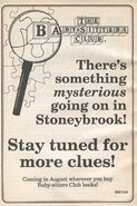 Something Mysterious bookad from SS6 1stpr 1991