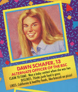 Dawn 1991 portrait and bio from Remco doll box