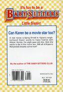 Baby-sitters Little Sister 103 Karens Movie Star back cover