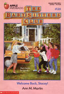 Baby-sitters Club 28 Welcome Back Stacey original cover
